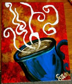 Coffee Painting - 8x10 - $20.00