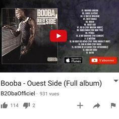 """BOOBA """"#Repost @boobainfos  L'album """"Ouest Side"""" de @boobaofficial est disponible gratuitement sur sa chaîne Youtube 58 minutes de pure classique sorti en 2006 l'album s'est vendu à plus de 400 000 exemplaires #MauvaisGarçon #GardeLaPêche #LeDucDeBoulogne #BoîteVocale #Boulbi #OuestSide #92izi #Pitbull #JeMeSouviens #AuBoutDesRêves #GunInHand #AuFondDeLaClasse #CouleurÉbène"""" #92i #booba"""
