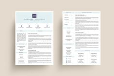 3 Page Resume Template | MS Word by GraphicFlava on @creativemarket