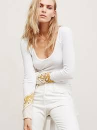 Free People Bandana Cuff Top - $132.00 (Also available in Black & Navy)