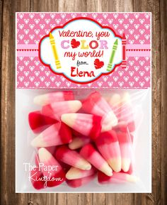 Printable Valentine Bag toppersValentine by thepaperkingdom