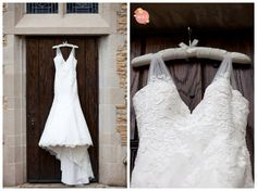 Knoxville Wedding Photographer - Woven & Spun Photography- beautiful lace wedding dress. Love the straps!
