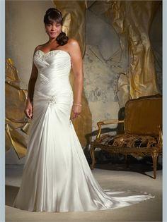 Mermaid Beading Sweetheart Plus Size Wedding Dress