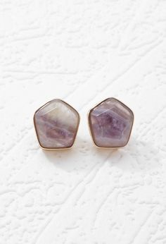 Faux Stone Studs | Forever 21 - 1000174099