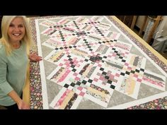 EASY ON POINT CRISS CROSS QUILT!!! - YouTube
