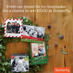 'Tis the season for holiday cards. Pin your favorites from Shutterfly and be entered to win great prizes.