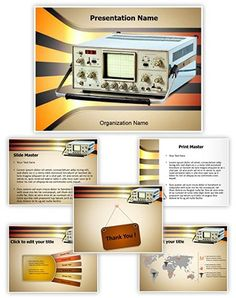 Cathode Ray Oscilloscope Powerpoint Template is one of the best PowerPoint templates by EditableTemplates.com. #EditableTemplates #PowerPoint #Spectrum #Electric #Telecommunications Equipment #Cathode-Ray #Sign #Analysis #Lab #Electronics #Metrology #Repair #Oscilloscope #Electrical Impulse  #Analyzing #Dials  #Computer #Ac #Element #Wave #Cathode #Tube #Measurement #Retro #Retro Revival #Industrial Equipment #Cathode Ray Tube #Comparision #Instrument #Vintage