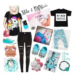 """""""Make it RAINbow!"""" by rockerbyebaby on Polyvore featuring Tokidoki, River Island and Converse"""