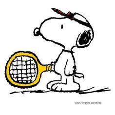 "Snoopy, ""tennis anyone?"""