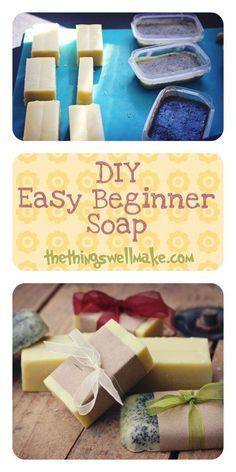 How to make an easy beginner soap. This post also includes ideas for customizing it and making it fun! #soapmakingforbeginners