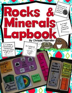 Rocks & Minerals Lapbook: Interactive Kit from Chrissie Rissmiller on TeachersNotebook.com - (28 pages) - Black line masters and photo directions for making a rocks and minerals lapbook with your students. $4.50