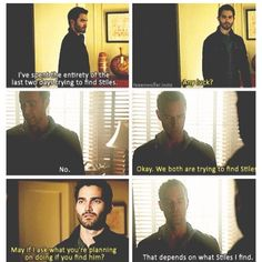 Tyler Hoechlin (Derek Hale) & J.R. Bourne (Mr. Argent) - Teen Wolf