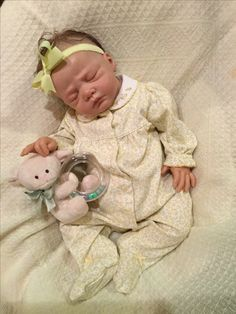 Lillie Beth, reborn baby doll, in vintage Carter's Little Collection sleeper.