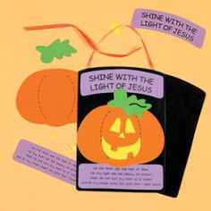 halloween shine with the jesus pumpkin craft for sunday school - Religious Halloween Crafts