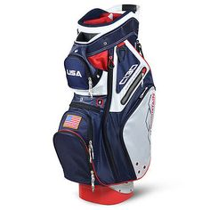 Golf Club Bags 30109: New 2017 Sun Mountain C130 Usa Flag Red White Blue 5-Way Cart Golf Bag -> BUY IT NOW ONLY: $228.95 on eBay!