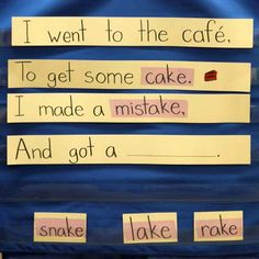 INSTRUCTION: BalancedLitDiet shows how we can teach the relationships between spoken sounds and written letters and teach common spelling patterns and word families. This is a great way to practice spelling through rhyming! Literacy Stations, Literacy Skills, Early Literacy, Prek Literacy, Kindergarten Poems, Simple Poems, Concepts Of Print, Rhyming Pictures, Rhyming Activities