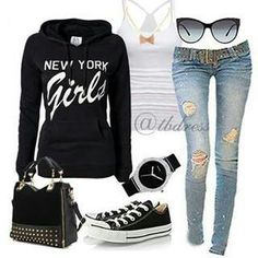Cute Hoodie Outfits | Fashion Ql