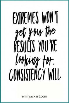 Exercise consistency gets results. Don't focus on extreme diets or trends like K… Exercise consistency gets results. Don't focus on extreme diets or trends like Keto, Atkins, or Paleo. Focus on sticking to a workout routine. Fitness Inspiration Quotes, Fitness Motivation Quotes, Weight Loss Motivation, Health Fitness Quotes, Workout Motivation, Motivation Inspiration, Positive Affirmations, Positive Quotes, Motivational Quotes