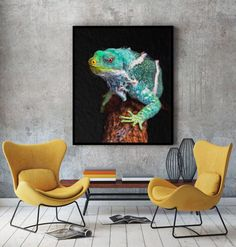 COECLECTIC - Large hand painted artwork on canvas - Chameleon Contemporary Paintings, Modern Contemporary, Large Artwork, Paint Splash, Chameleon, Image Shows, Abstract Art, Hand Painted, Colours