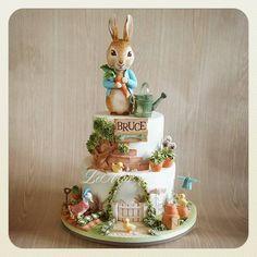 10 BEST EASTER CAKE TUTORIALS Easter is just around the corner. Are you wondering what cake to bake this year? I have a few suggestions for Easter cake tutorials that will blow your mind. From simple and easy to a few worth all the extra effort. Peter Rabbit Party, Peter Rabbit Cake, Peter Rabbit Birthday, Girl Cakes, Baby Cakes, Baby Shower Cakes, Easter Cake Tutorials, Cupcakes, Beatrix Potter Cake