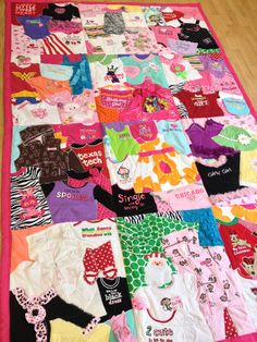 Memory Quilt / First Year Quilt / 1st Year Blanket / Baby Clothes Quilt /