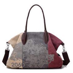 Only US$52.05 shop vintage large capacity women canvas casual hobos bag ladies crossbody bags ruched solid handbag at Banggood.com. Buy fashion handbags online. - Banggood Mobile