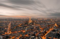 City Of Lights by NasBe Photography Oise, City Lights, Rooftop, Paris France, Paris Skyline, Places To Go, My Photos, Architecture, Photography
