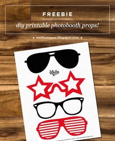 FREE Printable photobooth props by Maiko Nagao