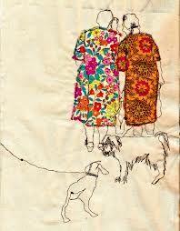 Sarah Walton's embroidered illustrations