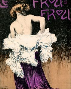 Kirchner - Girl Dressing | Le Frou Frou Magazine Covers Poster Reproductions