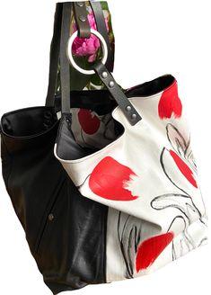TEKOA 731 borsa in jeans dipinti e pelle recuperata Milano, Take That, Pouch Bag, Bag