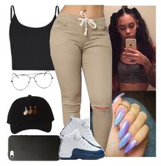 """✨✔️✔️"" by saucinonyou999 ❤ liked on Polyvore featuring Bibee and NIKE"