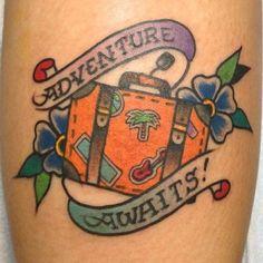 suitcase tattoo | inked | Pinterest | Tattoo, Tatting and Tatoo