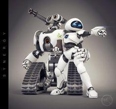 もし『WALL-E』のウォーリーとイヴが戦闘ロボットだったら