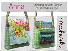 Nähanleitungen Taschen - eBook: Anna -Tasche, Anleitung