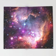 Galaxy Fleece Throw Blanket, Universe Stars Space, Outer Space Decor, Home Decor, Small Magellanic C