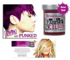 Jerome Russell Punky semi-permanent conditioning hair color, 3.5 oz.(rose red )