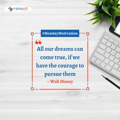 """All our dreams can come true, if we have the courage to pursue them."" – Walt Disney. #mondayinspiration #mondaythoughts #mondaymotivation #mondaymindset #teambuilding #technologies Monday Inspiration, Business Intelligence, Data Analytics, Mobile Application, Team Building, Pune, Software Development, Monday Motivation, Ecommerce"