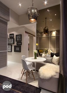 Dining table in a cosy corner