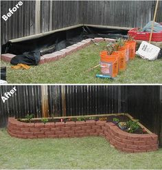 Raised flower bed. This could be cute at the bottom of the deck or along the back of the house.