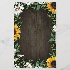 Wedding Jobs, Wedding Menu Cards, Fall Wedding, Fall Sunflower Weddings, Grad Party Decorations, Sunflower Baby Showers, Dollar Tree Christmas, Sunflower Wallpaper, Flower Invitation