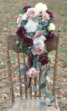 Wedding Flowers Bridal Bouquet Winter by Hollysflowershoppe