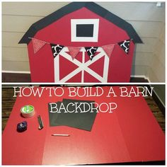 Wife of a Traveling Husband: Building a Barn Backdrop. Fun idea for farm birthday party! Cow Birthday, Farm Animal Birthday, Cowgirl Birthday, 3rd Birthday Parties, Birthday Ideas, Farm Yard Birthday Party, Petting Zoo Birthday Party, Tractor Birthday, Backyard Birthday