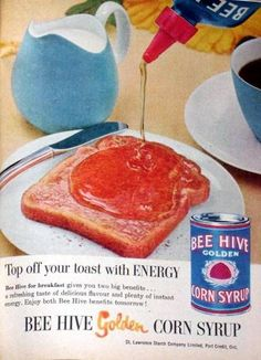 1950's: Slather corn syrup directly on to all your food! Not cool any more.
