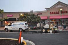 Commercial sidewalk cleaning, power washing shopping centers