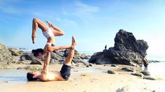 Watch This Yogi Couple Demonstrate a Gravity-Defying Routine...Just in time for Valentine's Day, married yogis Briohny Smyth and Dice Iida-Klein introduce us to the intimate and awe-inspiring art of AcroYoga  - ELLE.com