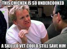 This chicken is so undercooked... :D lol