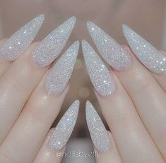 nails, glitter, and silver afbeelding