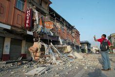 El hotel Claris de Talca tras el terremoto de 2010