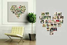 Pretty way to display photos in the shape of a heart ♥